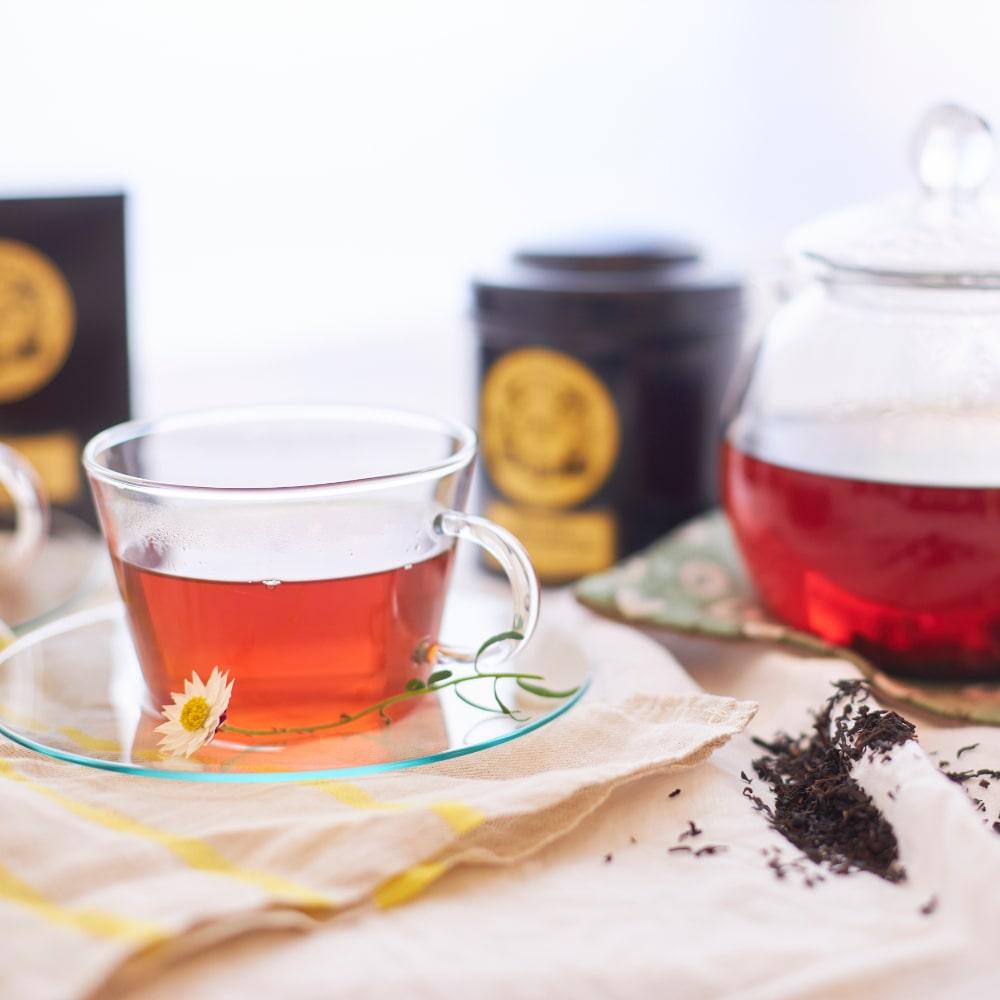 マリアージュフレールの紅茶「マルコポーロ」と「エロス」の2種を取り揃えています